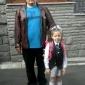 Васил Николов с дъщеричката си - второкласничката Любомира