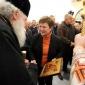 Кристалина Георгиева поздравява духовник номер едно на България